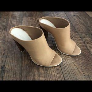 Vince Allison Nude Leather Shoes
